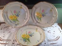 MIKASA china EARLY SPRING EC408 pattern Garden Club DINNER PLATES 10-3/4""
