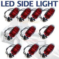 10X 12V RED SUPERFLUX LED MARKER CLEARANCE Chrome base TRUCK Boat LIGHT LAMP