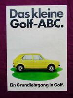 VW Golf 1 Schwalbenschwanz 1. serie 8S 4/74 Deutsch  Prospekt Brochure