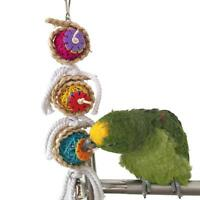 Parrot Toy For Parrots Bird Toys Swing Chew Rope African Grey Macaws Cockat N6P6