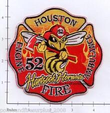 Texas - Houston Station 52 TX Fire Dept Patch - Hartsook Hornets
