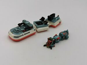 Micro Machines Sea Cave Explorer Cave Snake & Barges & Moray Eel Submarine Rare.