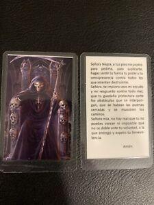 Santa Muerte - Oracion - Señora Negra - Holy Death - Prayer Card - Laminated