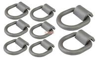 """(8 Pack) 1/2"""" Heavy Duty Weld-On Forged D Ring 12,000 Lbs"""