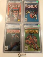 Wolverine Limited Series #1 2 3 4 Lot All CGC 9.6 with White Pages! X-Men!