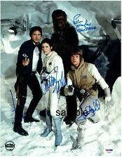 STAR WARS CAST 3 REPRINT 8X10 AUTOGRAPH SIGNED PHOTO HARRISON FORD CARRIE FISHER