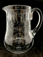 Baccarat Fine Crystal Cut and Etched Water Pitcher Made in France RARE!