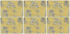 Pimpernel Sanderson Etchings & Roses Yellow table mats 6 Place mats and Coasters