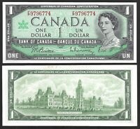 Canada One Dollar $1 (1967) WITH SERIAL - Almost UNC Banknotes