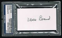 Vance Brand signed autograph auto 2x3.5 cut Apollo-Soyuz Astronaut PSA Slabbed