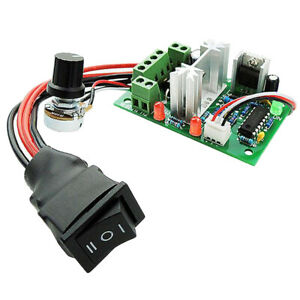 6V 12V 24V 10A PWM DC Motor Speed Controller Reversible CW CCW Switch
