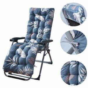 Deck Chair Cushion Lounge Tufted Chaise Padding Outdoor Indoor Recliner 67""