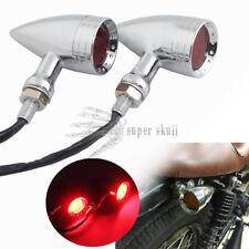 Chrome Red Lens 20 LED Motorcycle Stop Brake Running Turn Signal Tail Light Lamp