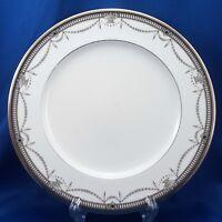 """Noritake Chamberlain Salad Plate Black Gray Platinum 8-5/8"""" 4705 Bone China"""
