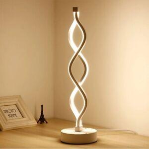 Table Lamp Curved Desk Light Bedside Bedroom Lamp Warm Creative Spiral LED