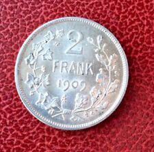 Belgique - Magnifique monnaie de 2 Francs 1909  VL  (2)