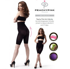 PEACHY-PINK ANTI-CELLULITE, THIGH-SHAPING, HIGH WAISTED PANTS SIZE 14-16