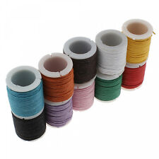 100m Wax Tape 1mm (pro M) in Colorful Mix (10x 10m) Wax Cord Band Colourful