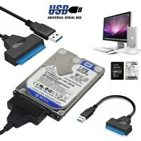 """✅USB 3.0 To SATA 2.5"""" External Hard Disk Adapter Drive HDD SSD Cable Converter✅"""