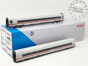 PIKO 58590 Set Of 2 Coaches Additional For Electric Train Ice 4 DB - 1:87