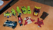 Large lot 80s Original G1 TRANSFORMERS Parts Bone Crusher Hot Rod Constructicons