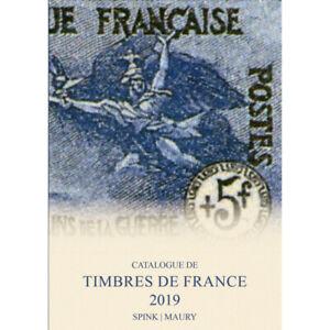 Catalogue de cotation Maury timbres de France 2019 en 2 volumes.