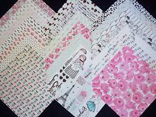 12x12 Scrapbook Paper Studio Pink Passport Girls Modeling Paris Fashion 40 Lot
