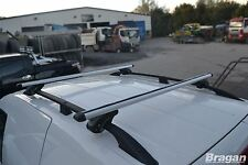 2010 -2015 VW Caddy Maxi LWB Aluminium Black Roof Rails + Locking Cross Bars Van