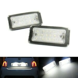 Led License Number Plate Light White No Error For FIAT 500/C Abarth CANBUS 2007+