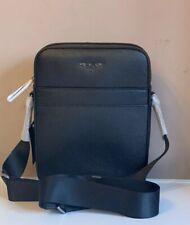 Michael Kors Harrison Flight Bag Leather Black 37U9LHRC2L NWT