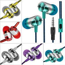 Metal Stereo Headphone Bass Earphone Sport Headset Hands Free Earbuds With Mic