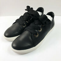 YOSI SAMRA Women's Laurel Lace Up Sneaker Black Leather 9 $118