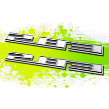 X2 Chrome SBC 283 4.6 Metal Bumper Trunk Grill Fender Emblem Decal Sticker Badge
