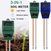 3-in-1 Soil Tester Water PH Moisture Light Test Sensor Meter Garden Plant Flower