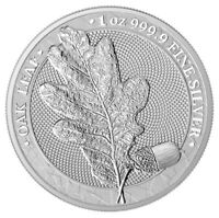 2019 Germania Mint Oak Leaf Medal 1 oz Silver Medal GEM BU SKU60060