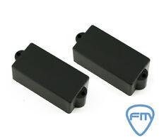PRECISION BASS Pickup Covers - Black Mat- No Holes - ALLPARTS  (2 pieces)