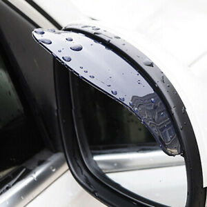 2× Car Rear View Side Mirror Rain Board Eyebrow Guard Sun Visor Auto Parts Black