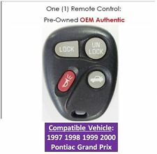 97 98 99 00 Pontiac Grand Prix keyless remote control OEM replacement entry fob