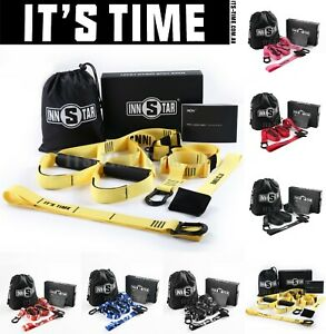 IT'S TIME TRX Suspension Trainer Kit Bodyweight Fitness Workout Training Straps
