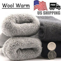 3 Pairs US Mens Warm & Soft Comfort Wool Cashmere Large Winter Thick Dress Socks