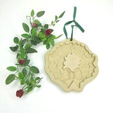 Brown Bag Cookie Art Holly Wreath Clay Mold Hill Design 1988 Christmas Holiday