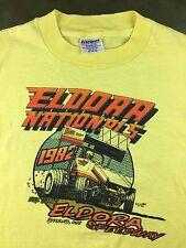 Vintage Mens XL 1982 Sprint Car Racing Eldora Speedway Nationals Yellow T-Shirt