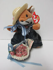 "Ty Beanie Baby - DRESSED ""Sly"" the Fox, OOAK - CUSTOM w/basket New w/Mint Tagss"