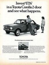 1970 Toyota Corolla 2 Door Sedan and Fastback See What Happens Print Ad