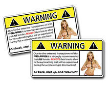 Funny Sexy Girl 1/2 Naked Warning Decal Sticker Off Road ATV RZR Mud SxS 4x4 POL