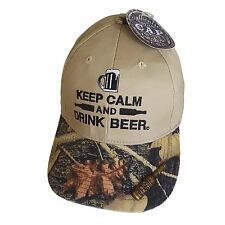 Beer Hat BaseBall Cap Keep Calm and Drink with Bottle Opener in Brim