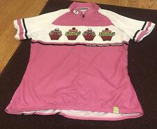 Women's Sugoi Cycling Jersey Bicycle Shirt - Riding Cupcake Mountain Size Medium