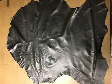 Italian Lambskin Leather Skin Hide Soft Black - 8 Sq.Ft (2 oz)