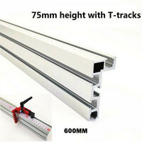 Pro 75 Type T-Slot Aluminium Woodworking Backer Table Saw Backe With T-tracks WH