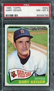 1965 Topps #452 Gary Geiger PSA 8 NM-MT